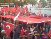 C.H.P. NAZİLLİ'DE YÜRÜYÜŞ DÜZENLEDİ!