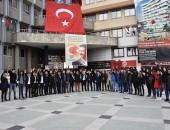 NAZİLLİ ÜLKÜ OCAKLARI ŞEHİD FIRAT ÇAKIROĞLU'NU UNUTMADI!